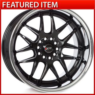 18x9 18x10 5 5x114 3 5x120 GLOSS BLACK STAGGERED WHEELS RIMS 350Z G35