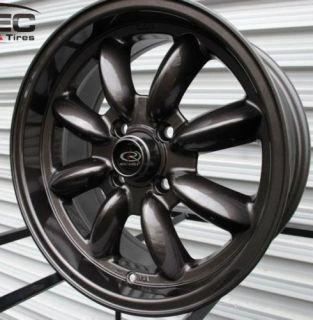 Rota RB 15x7 4x100 ET25 57 1 Hub Gun Metal Rim Wheels
