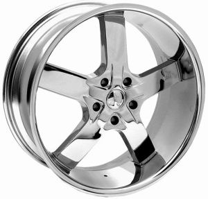 24 inch U2 55 Chrome Tire Wheel Package Chevy Silverado 5 Lug