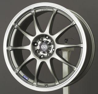 15x6 5 Enkei J10 Silver Wheel Rim s 4x100 4 100 15 6 5