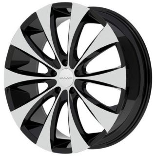 20 inch KMC Black Wheels Rims 5x120 La Crosse Camaro Equinox Range