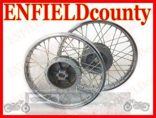 New Royal Enfield Complete Pair Steel Wheel Rim WM2 19