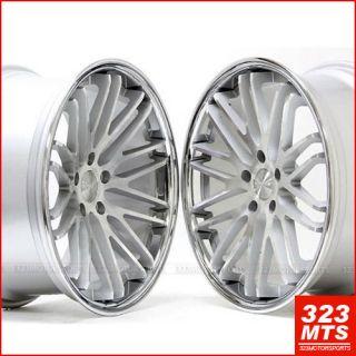 20x10 MBZ C s E Stance Evolution Wheels Rims Silver Concave