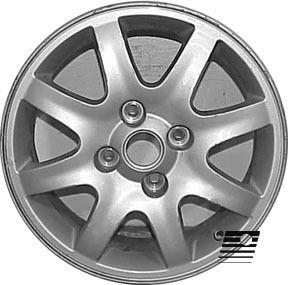 Refinished Kia Spectra 2004 2006 16 inch Wheel Rim OE