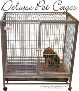 40 Dog Kennel w Wheels Portable Pet Carrier Crate Cage Pet Cage 2