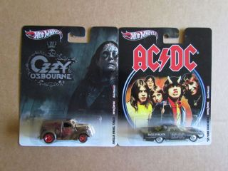 Hot Wheels Ozzy Osbourne Anglia Panel Truck + AC/DC 72 Ford Ranchero