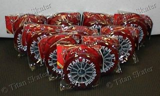 Lot of 20 Red 110mm Scooter Wheels No Bearings Great 4 Inline Skates