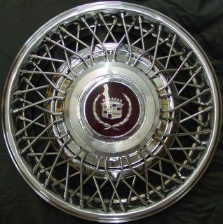81 85 Cadillac Eldorado Seville 15 Wire Hubcap Holl 2046 OE 01623577