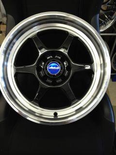 STR wheels STR501 16x7 4x100 4x114 3 25 BLACK Machined lip P1 Racing