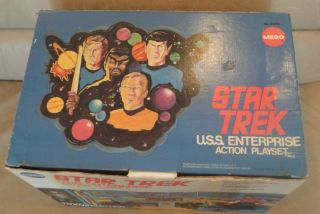 Vintage Mego Star Trek USS Enterprise Playset in Box 1974
