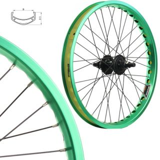 Stars Cirle BMX Bike Wheels Wheelset Oversized 20 inch Green