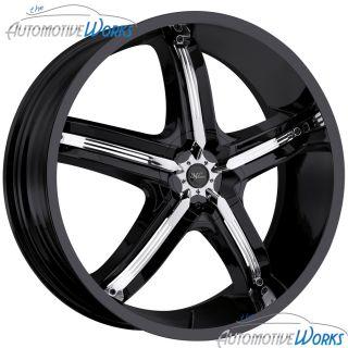 Milanni Belair 5 5x110 5x115 38mm Black Wheels Rims inch 17