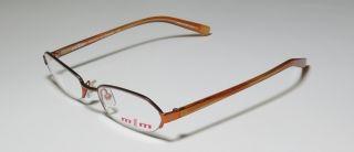 New Alain Mikli 848 52 17 134 Brown Orange Half Rim Eyeglasses Glasses