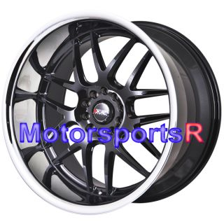20 XXR 526 Black Rims Wheels Staggered 5x114 3 03 04 06 07 Infiniti