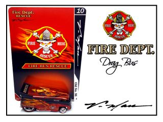 Man Custom Fire Dept  VW Drag Bus Hot