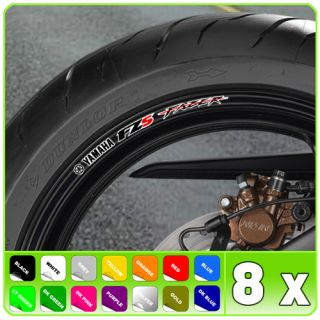 Fazer FZS Wheel Rim Stickers Decal 1000 FZ 600 750 S2