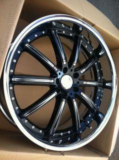 22 Black Rims Tire 6x139 GMC Chevy Titan Yukon Armada Nissan Sierra