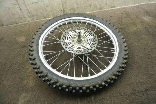 2000 00 Suzuki RM125 RM 125 Front Wheel Rim Tire Rotor Axle Hub
