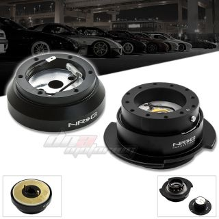 NRG SRK 140H Sport Steering Wheel Short Hub Gen 2 5 Black Quick