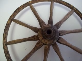 antique wheels goat cart hand made spokes wheels wooden iron bands