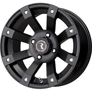 New 12x7 4x110 Raceline ATV Black Wheels Rims