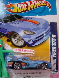 CASE M 2012 i Hot Wheels K&N DODGE VIPER GTS R #146/247★New BLUE