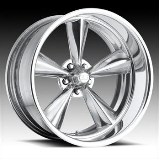 2pc Wheel Set FOOSE Style Rims Polished 5 Lug Torque Thrust