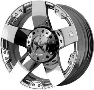 20 inch KMC XD Rockstar Chrome Wheels Rims 5x5 5x127