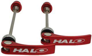 Halo Porkies QR Quick Release Skewers Cromo 135mm Red