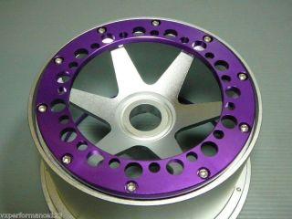 2X Front 6 Spoke CNC Alloy Wheel Rims HPI Baja 5B Tires