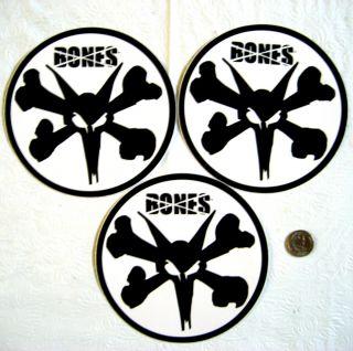 Bones Wheels Logo Skateboard Stickers 3 Large 6 Stickers Ships Free