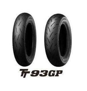 Dunlop TT93 100 90 12 120 80 12 Front Rear Tires