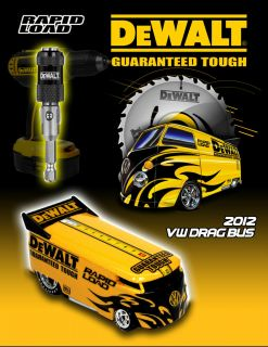 Hot Wheels Custom 2012 Dewalt Rapid Load VW Drag Bus Boxman