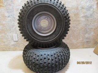 Warrior YFM 350 rear tires and rims 01yfm warrior atv quad wheels