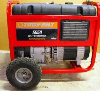 BILT 5550 Watt Power Briggs Stratton Portable Gas Generator on Wheels