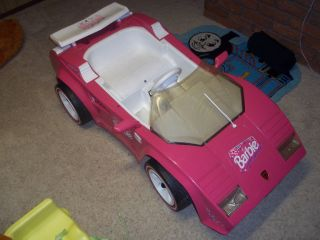 FISHER PRICE POWER WHEELS BARBIE LAMBORGHINI 6V COMPLETE RARE HTF PLUS