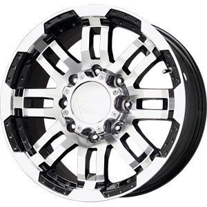 New 17X8 5 8x170 Vision Warrior Black Wheels Rims 8 Lug Ford F250 F350