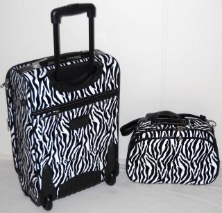Carry On Luggage SUITCASE SET Matching TOTE BAG Travel ON WHEELS