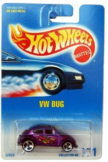 1997 Hot Wheels 171 VW Bug Beetle 3SPK Blue White Card