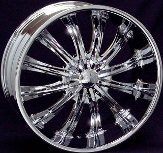 28 inch 28x10 B15 Chrome Wheels Rims 6x135 Ford F150