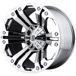 24 inch XD Monster Chrome Wheels 8x170 Ford F250 F350