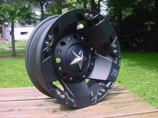 XD Rockstar Dually Wheels Ford Chevy Dodge Black 16x6 Back in Stock