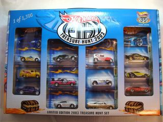 Hot Wheels 2003 Treasure Hunt Box Set Unopened Mint in Mint Box