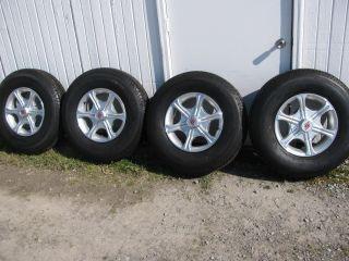 New Sendel 16x6 6 Lug Aluminum Trailer Wheels and Tires