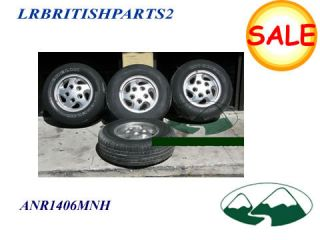LAND ROVER RIMS SET OF 4 WITH TIRES 16 DEFENDER DISCOVERY I & R ROVER