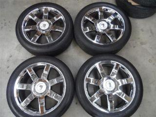 22 Cadillac Escalade Chrome Wheels w Tires Nice Clean Set