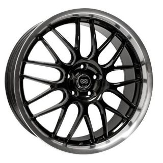 20 Enkei Lusso Black Rims Wheels G35 Sedan GS300 GS400
