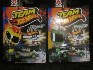 2012 TEAM HOT WHEELS COMMEMORATIVE 1 64 X GAMES DOUBLE LOOP DARE GREEN