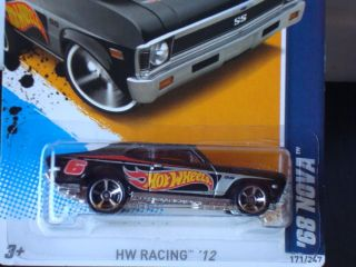 Hot Wheels 2012 HW Racing Series 68 Nova Black 171