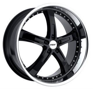 17x8 TSW Jarama Black Wheel Rim s 5x120 5 120 17 8